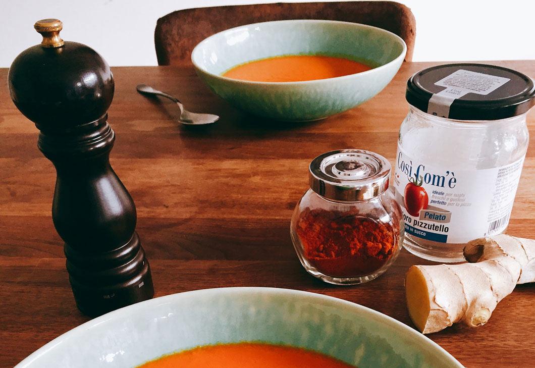 Spicy tomatensuppe Ernährungscoach München
