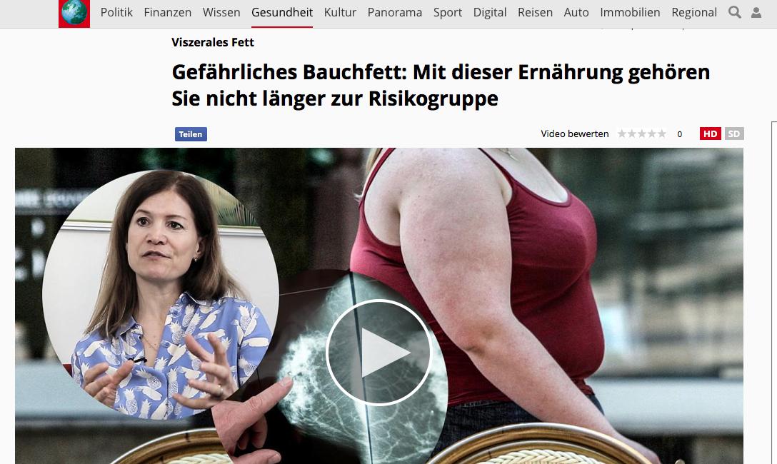 Gefährliches Bauchfett Focus Interview Ernährungsberaterin Kikisch